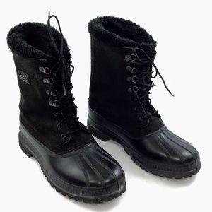 Sorel Steel Shank Waterproof Mens Black Boots 10